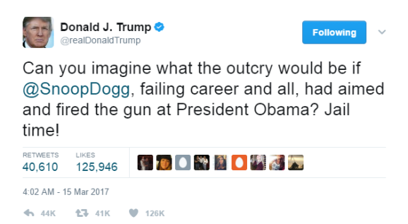 trump snoop tweet